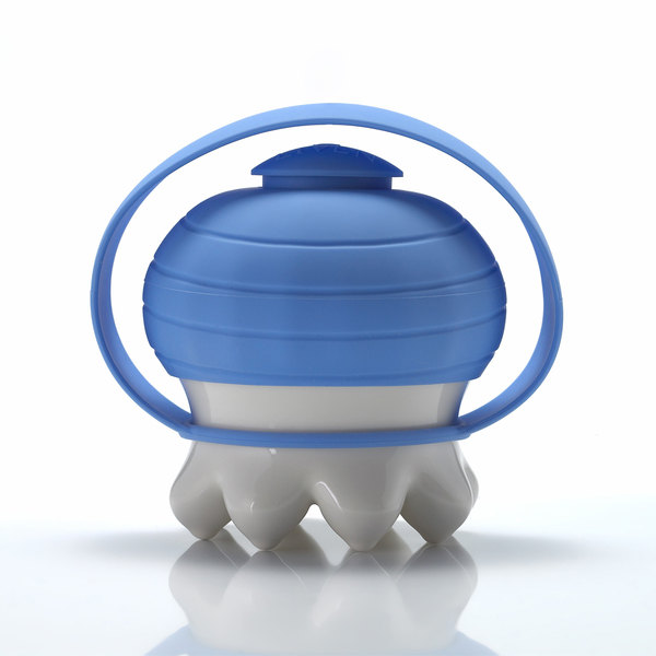 《乾唐軒活瓷》熱波按摩器( 尖足/  白 / 藍提套)