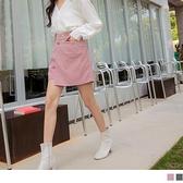 燈芯絨金屬扣層次造型短褲裙 OrangeBear《BA5860》