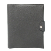 HERMES 愛馬仕 89 Noir 黑色牛皮筆記本套 Ulysse Neo MM notebook cover C刻