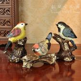 三小鳥擺飾 樹脂工藝家居