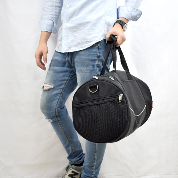 旅行袋 簡單線條大容量圓筒包NZB32