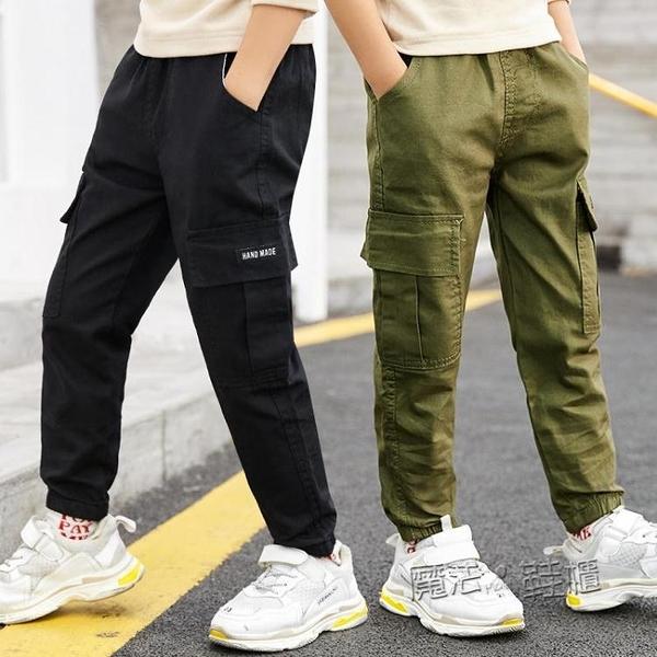童裝春夏薄款男童褲子4到13歲兒童寬鬆休閒工裝褲中大童長褲 618促銷