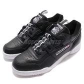 【六折特賣】Reebok 復古休閒鞋 Workout Plus RT 黑 白 國旗標 男鞋 【PUMP306】 CN3948