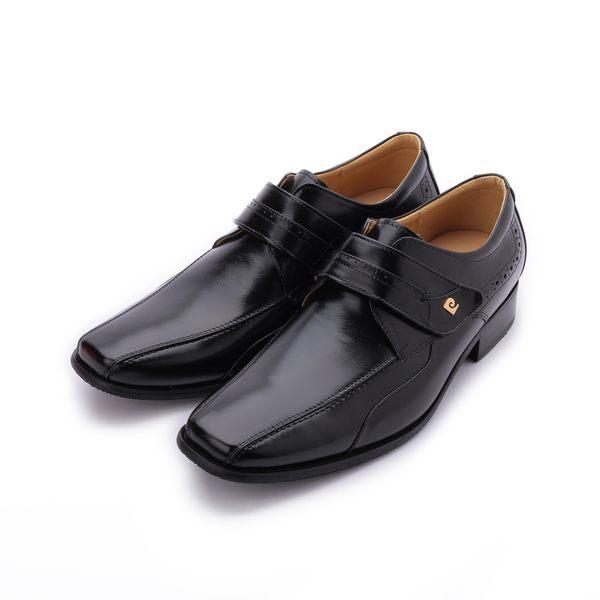 皮爾卡登 方頭魔鬼氈紳士鞋 黑 男鞋 鞋全家福