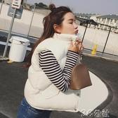 背心外套 韓版寬鬆短款秋冬裝黑色棉背心馬夾學生棉馬甲女士棉衣外套面包服 3C公社