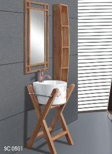 簡雅時尚0501天然進口橡木浴室櫃
