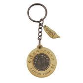 【收藏天地】台灣紀念品*木質鑰匙圈-台灣錢幣