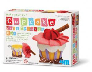 俏麗蛋糕首飾盒 Make Your Own Cupcake Felt Trinket Box