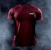 春秋款運動健身短袖肌肉男高彈力緊身速干衣戶外跑步健身訓練上衣