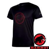 【MAMMUT 長毛象】男 QD AEGILITY 圓領短袖T恤『黑/紅寶石』1017-10062 彈性伸縮 戶外 旅遊 輕便