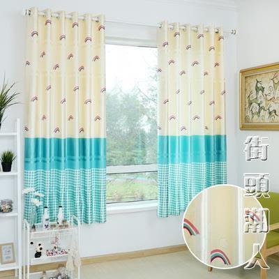 窗簾成品簡約現代短簾半遮光小窗簾布料臥室陽臺飄窗NMS街頭潮人