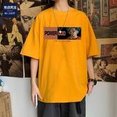 M-5XL大碼男裝半袖T恤男夏季新款青少年港風潮流百搭印花加肥加大休閑短袖大呎寸男裝