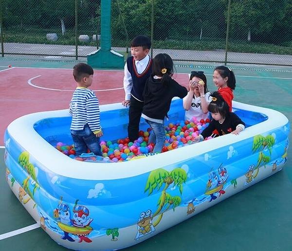 充氣泳池 兒童游泳池加厚兒童家用寶寶游泳桶小孩成人超大號家庭戲水池【快速出貨八折下殺】