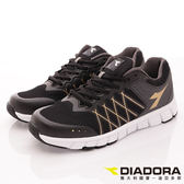 【DIADORA】乳膠動能慢跑鞋款-DA7AMR5180-黑-男款-0