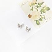 耳環 925純銀-優雅蝴蝶生日情人節禮物女飾品73gk47【時尚巴黎】