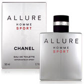 CHANEL 香奈兒  ALLURE HOMME SPORT EDT 50ml 美國原裝進口【QEM-girl】