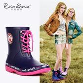 雨鞋   泰迪珍藏春夏款中筒女式雨鞋女士雨靴時尚水鞋膠鞋女