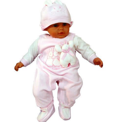【奇買親子購物網】奇哥 彼得兔站立兔繡花套裝~彌月禮盒(粉色/藍色)