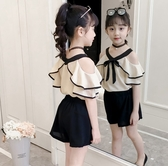 女童夏套裝 女童夏裝洋氣套裝2020新款中大童時髦網紅夏季兒童小女孩兩件套潮【快速出貨】