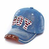 兒童帽子春秋男童牛仔鴨舌帽6-8歲