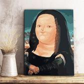 diy數字油畫客廳風景大幅世界名畫達芬奇-蒙娜麗莎手繪填色裝飾畫wy