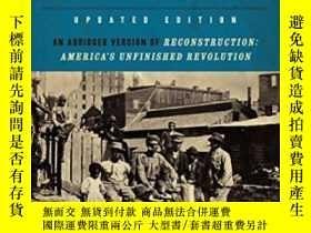二手書博民逛書店A罕見Short History Of Reconstruction, Updated EditionY364