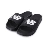 NEW BALANCE LOGO運動拖鞋 黑 SMF200B1 男鞋