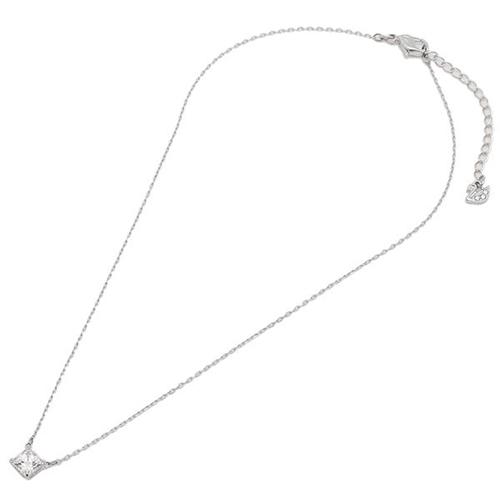 SWAROVSKI 施華洛世奇 ATTRACT璀璨水晶方型銀色項鍊 5510696