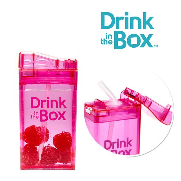兒童戶外方形吸管水杯 / 水壺 235ml -糖果粉 - Drink in the box 加拿大