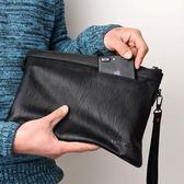 新款男士大容量信封軟皮休閒夾手拿包tz7121【3C環球數位館】