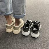 厚底鞋 老爹鞋女夏季單鞋2020新款百搭網紅超火厚底透氣網面運動鞋ins潮 快速出貨