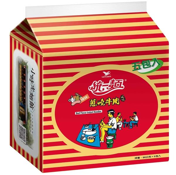統一麵蔥燒牛肉風味(5入)【合迷雅好物超級商城】