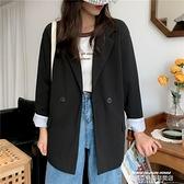 西裝外套 秋季新款韓版西服外套女胖mm大碼百搭寬鬆薄款休閒西裝上衣潮 【618 狂歡】