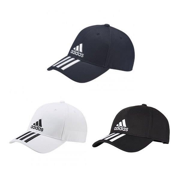 ADIDAS 三線老帽(三色) 6P 3S CAP COTTO -DU0198 (20191)【MS】