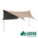 【日本LOGOS】LOGOS 抗光黑膠天幕圓頂 Fit Hexatarp 4443-BA 露營 戶外 LG71805586