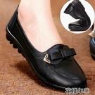 皮鞋秋冬季媽媽鞋女單鞋軟底中老女鞋皮鞋老北京布鞋平底防滑老人鞋 快速出貨