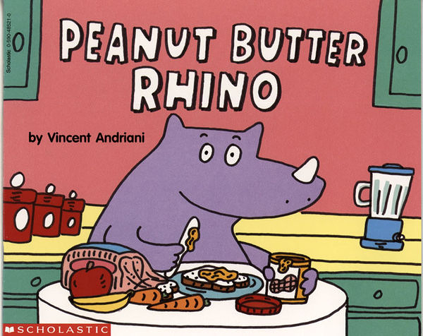 【麥克書店】PEANUT BUTTER RHINO /英文繪本《主題:自然發音.趣味》※2013年暢銷之最※