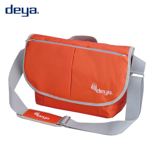deya 探索系列 活力運動純色郵差包  橘色