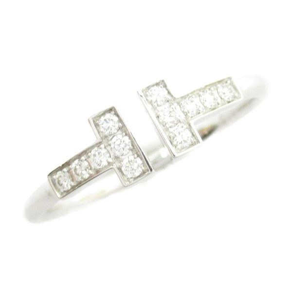 TIFFANY&CO 蒂芙尼 T-Wire系列鑽石戒指 號 K18WG 【二手名牌BRAND OFF】