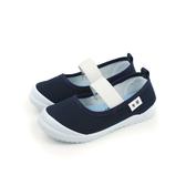 休閒鞋 懶人鞋 娃娃鞋 藍色 中童 no017