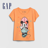 Gap 女幼童 Gap x Disney迪士尼系列圓領短袖T恤 584843-冰橘色