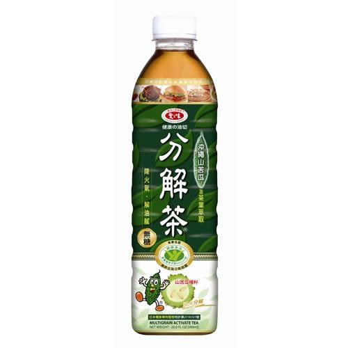 愛之味 分解茶 沖繩山苦瓜(無糖) 590ml【康鄰超市】