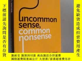 二手書博民逛書店Uncommon罕見sense,common nonsense