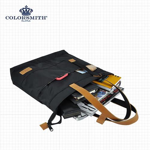【COLORSMITH】BR.經典環扣肩帶托特包.BR1286-BK-S