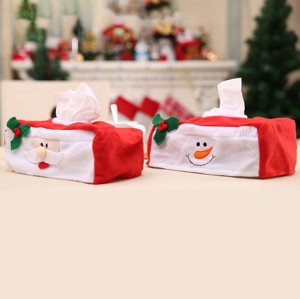 新款聖誕裝飾品 聖誕紙巾盒裝飾 大號聖誕紙巾盒套 聖誕場合裝飾─預購CH2467