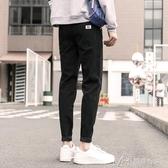 牛仔褲男寬鬆潮牌新款黑色男士休閒修身小腳褲子男韓版潮流 瑪奇多多多