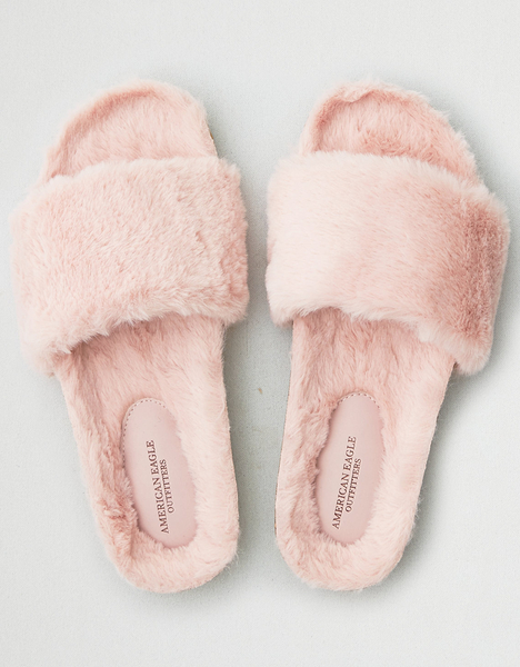 【BJ.GO】AMERICAN EAGLE_女裝_AEO FUR SLIPPER 美國AEO毛毛拖鞋/涼鞋現貨