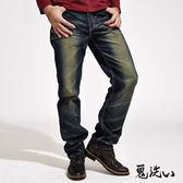 【秋季特推】鬼洗繡+鉚釘袋花中腰直筒褲- BLUE WAY  鬼洗い