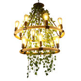 植物燈 工業風胡桃裏植物吊燈創意餐廳復古奶茶火鍋店酒吧裝飾綠植燈具T