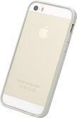 【唐吉】POWER SUPPORT iPhone SE/5/5S 專用 Flat Bumper 銀白邊框